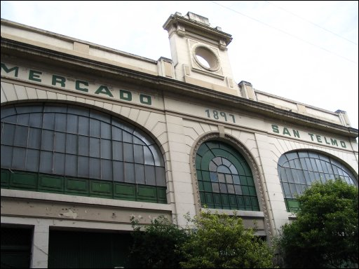 Photo of the outside of El Mercado San Telmo