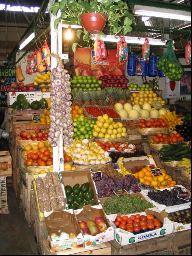 Photo of a produce stand