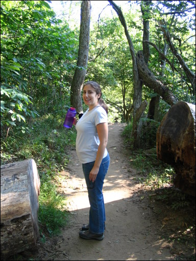 Elizabeth on the Billy Goat Trail
