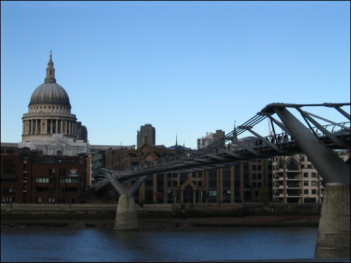 St. Paul's and the Millenium Bridge