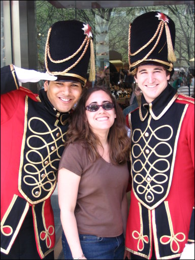 Me with the soldiers outside FAO Schwarz
