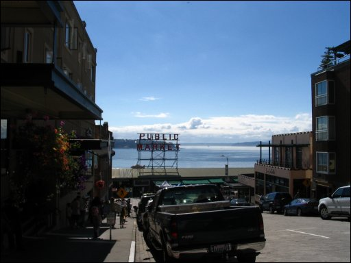 Approaching Pike's Place Market