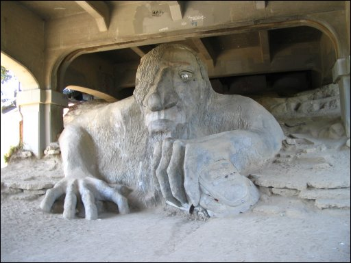 Troll under a bridge